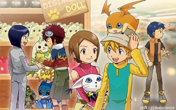 Anime Digimon Takeru Takaishi Hikari Yagami Davis Motomiya Veemon Patamon HD Wallpaper | Background Image