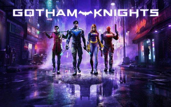 Video Game Gotham Knights Robin Nightwing Batgirl Red Hood Dick Grayson Tim Drake Jason Todd Barbara Gordon Batman HD Wallpaper | Background Image