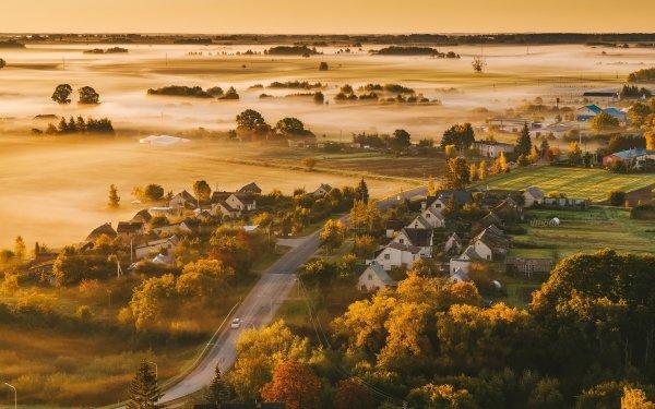 Photography Landscape Lithuania Kaunas Fog HD Wallpaper | Background Image