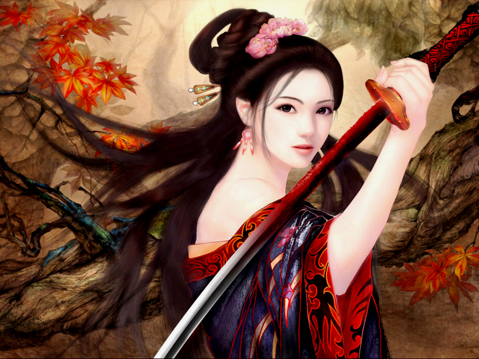 Fantasy - Women Warrior  Daisy Fighter Girl Female Samurai Wallpaper
