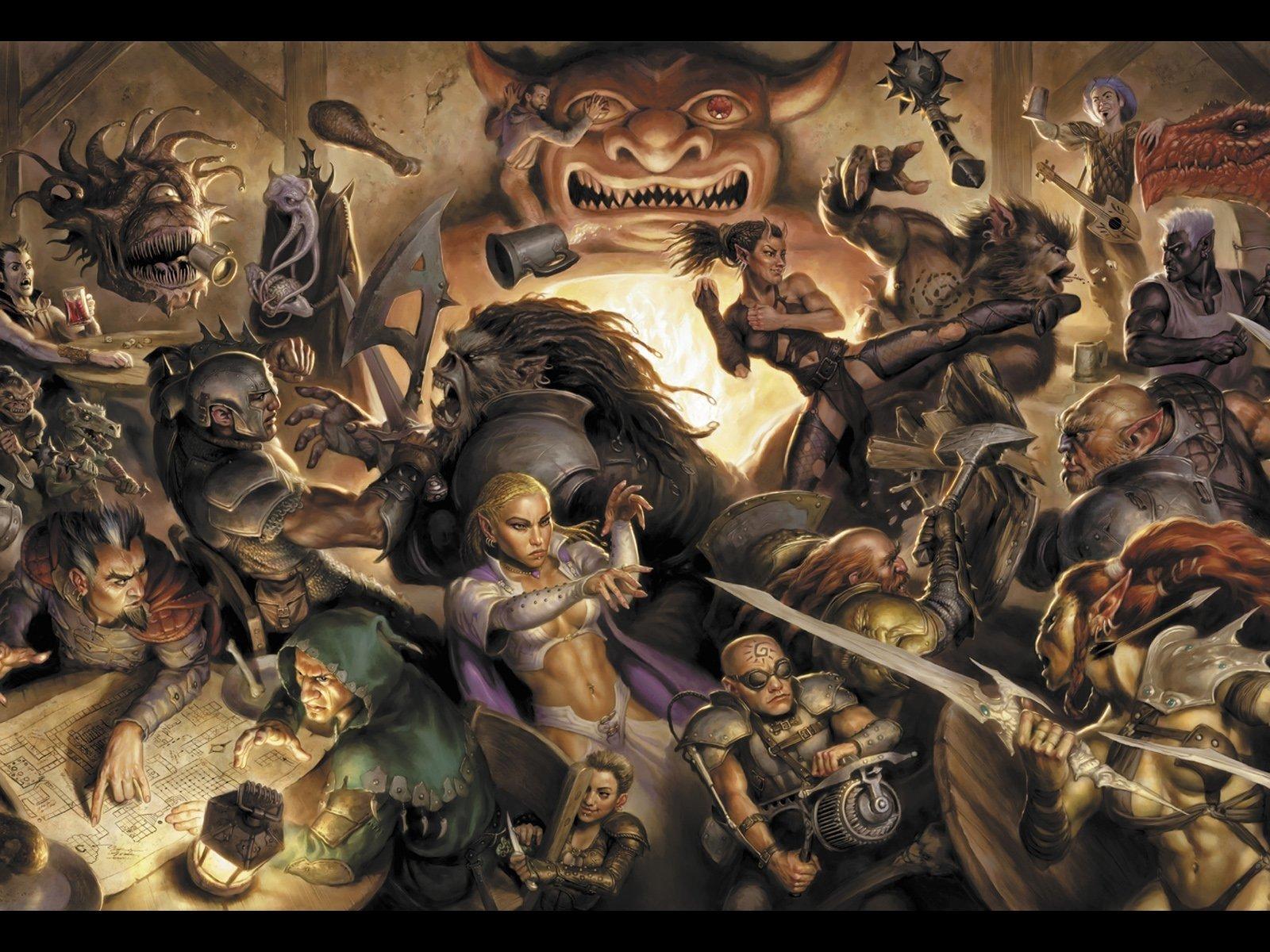 Artístico - Artístico  Juego Dungeons & Dragons Fantasía Fondo de Pantalla