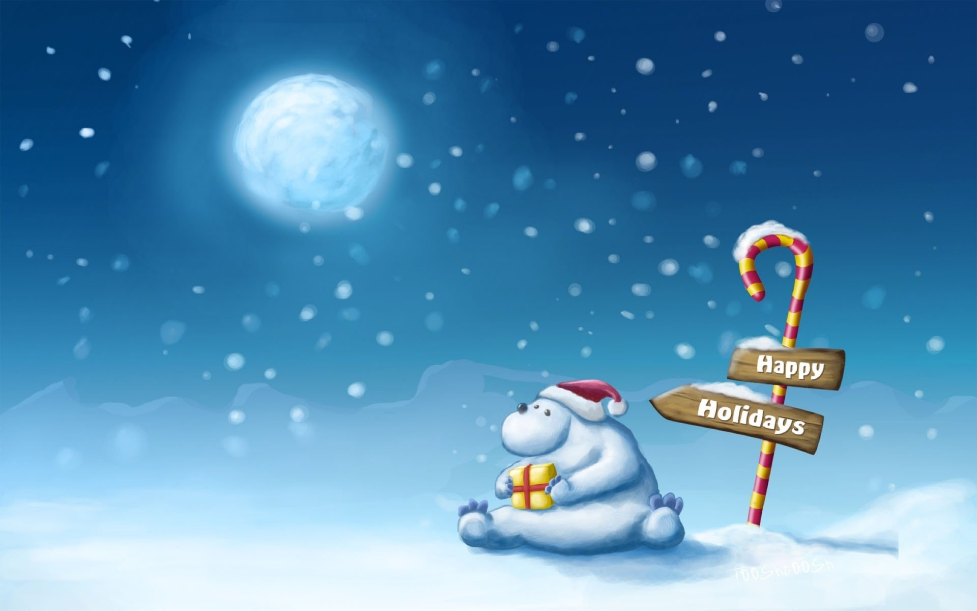 Holiday - Christmas  Santa Hat Wallpaper