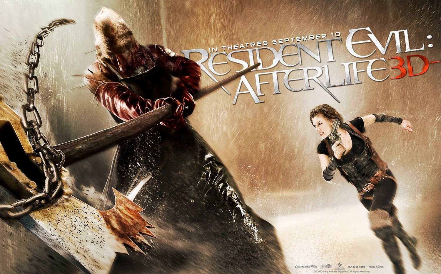 Movie - Resident Evil: Afterlife  Milla Jovovich Executioner Majini Wallpaper