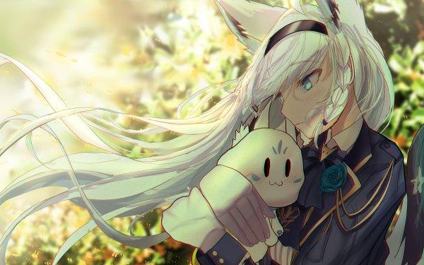 Anime Virtual Youtuber Shirakami Fubuki Hololive HD Wallpaper | Background Image