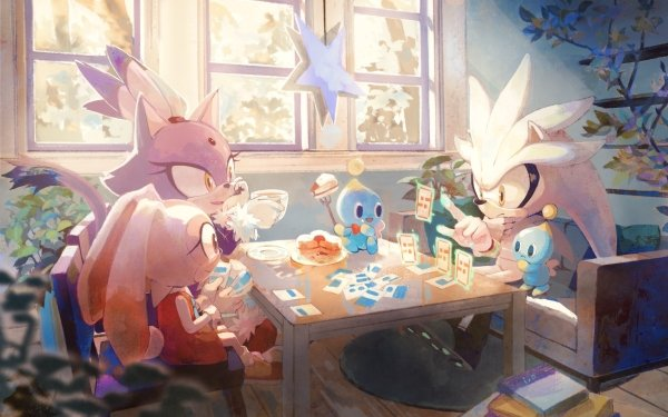 Video Game Sonic the Hedgehog Sonic Silver the Hedgehog Blaze the Cat Cream the Rabbit Cheese the Chao Chao HD Wallpaper | Background Image