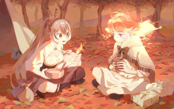 Anime Virtual Youtuber Nanashi Mumei Takanashi Kiara Hololive HD Wallpaper | Background Image