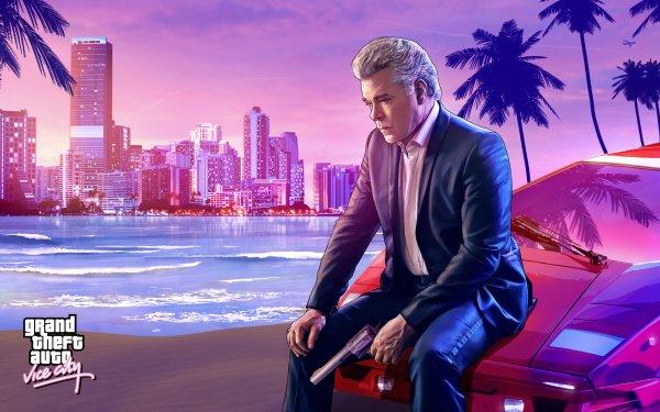 Video Game Grand Theft Auto: Vice City Grand Theft Auto Ray Liotta Tommy Vercetti Revolver HD Wallpaper   Background Image