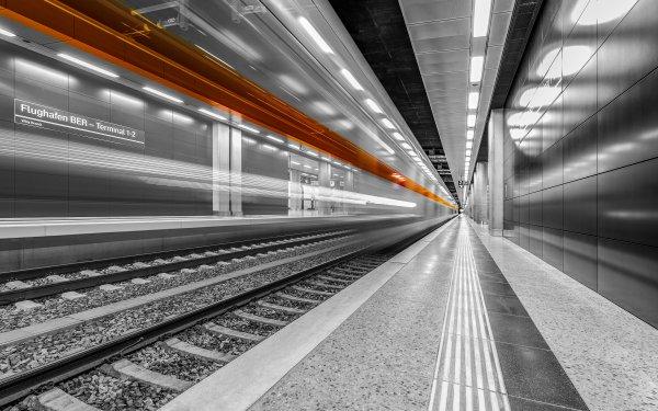 Man Made Train Station Train Berlin Berlin Brandenburg Airport HD Wallpaper   Background Image