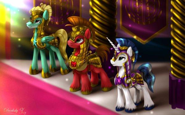 TV Show My Little Pony: Friendship is Magic My Little Pony Big Macintosh Shining Armor Zephyr Breeze HD Wallpaper | Background Image