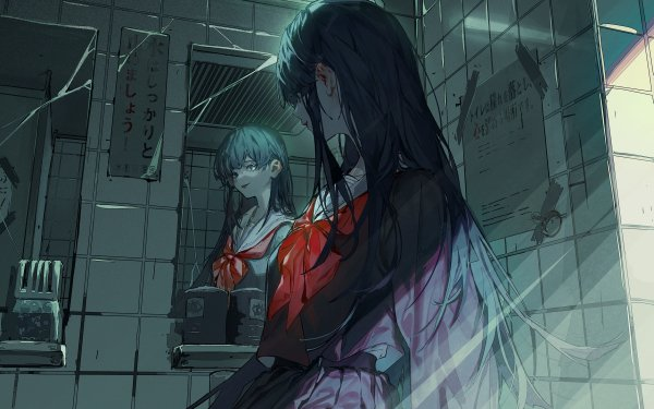 Anime Girl School Uniform HD Wallpaper   Background Image