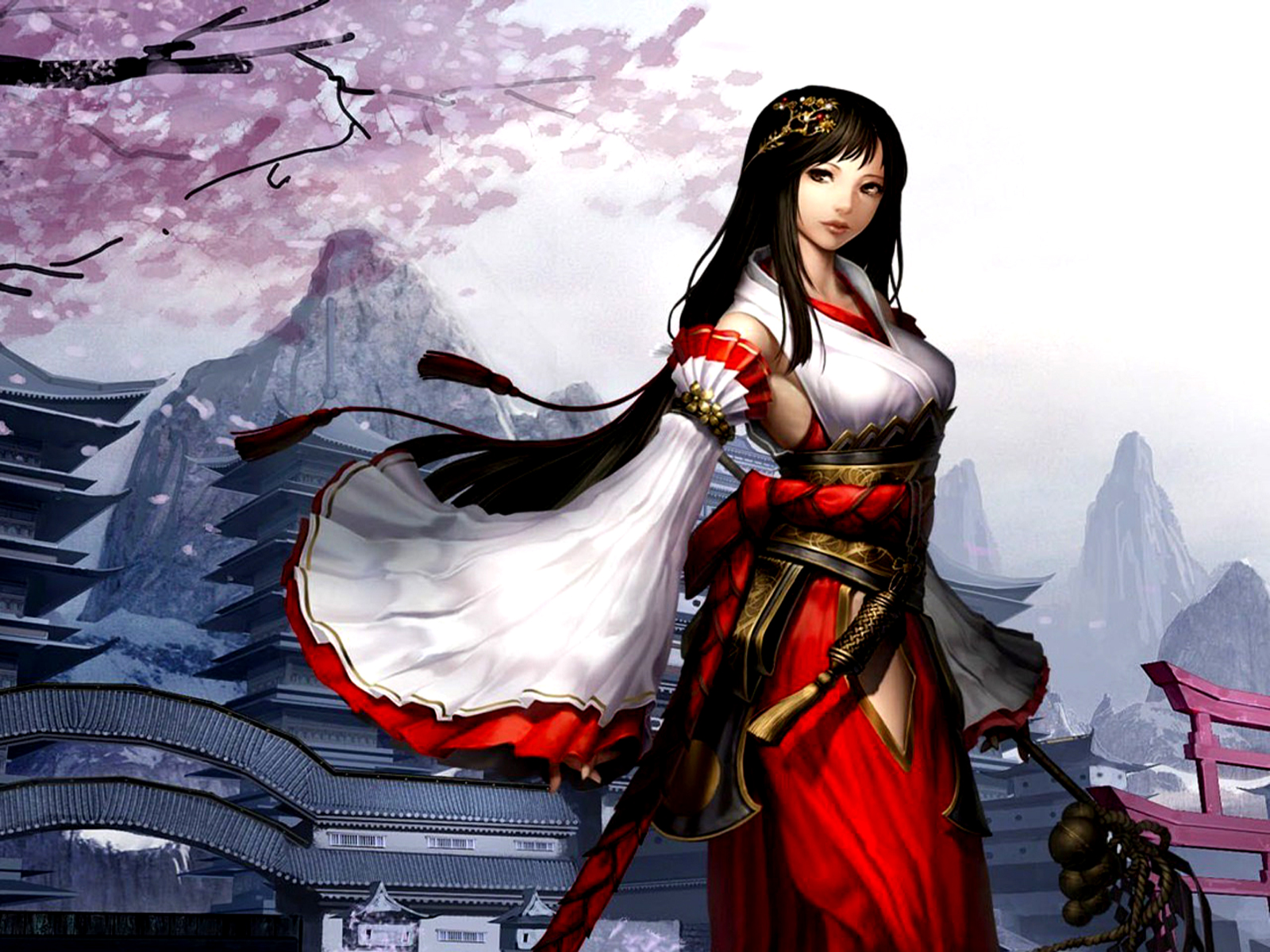 Atlantica wallpaper and background image 1600x1200 id - Anime female warrior ...