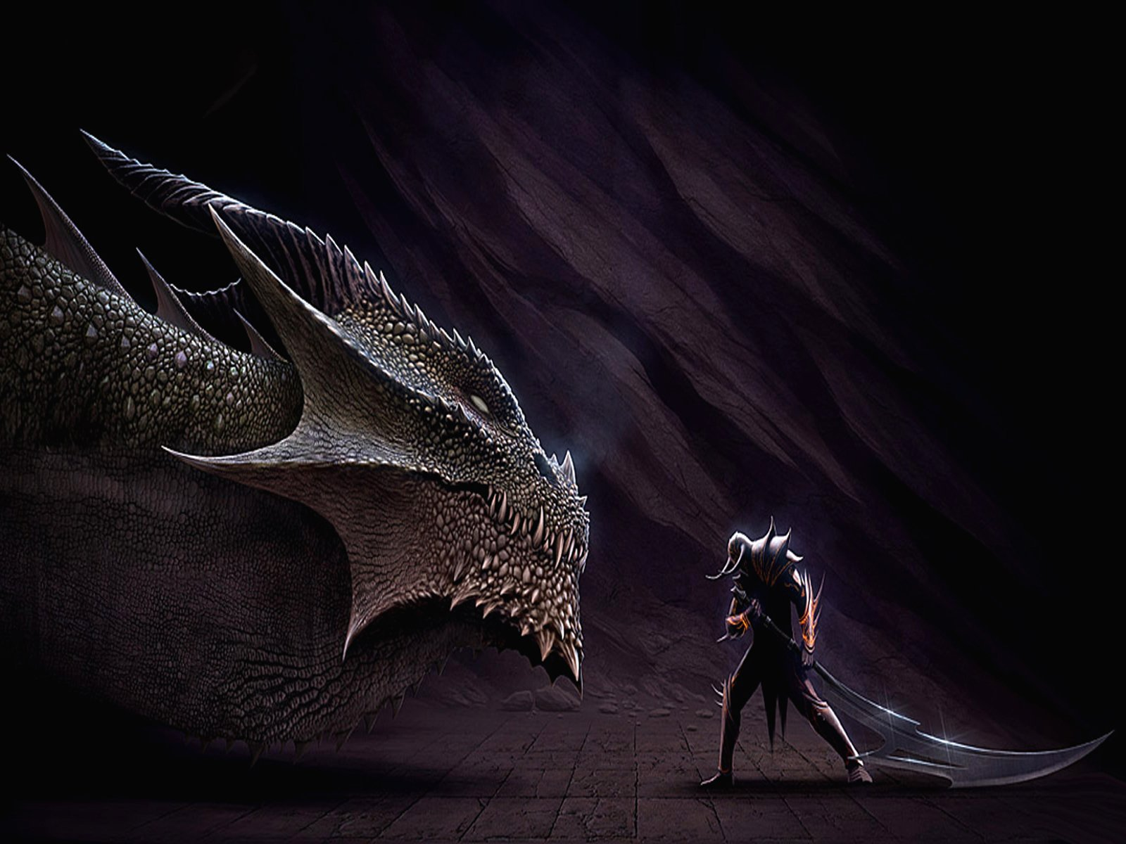 Fantasy - Drachen  Fantasy Wallpaper