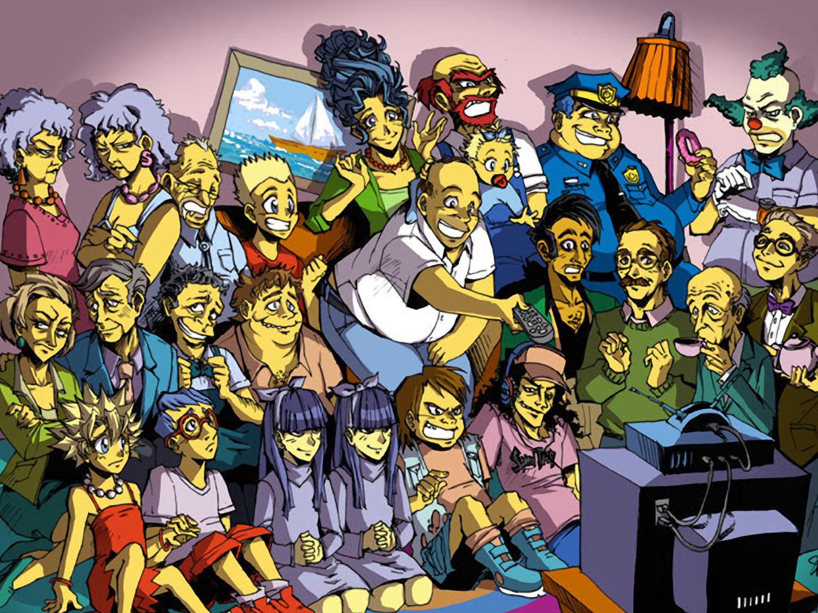 Programa  - Los Simpsons  - Simpsons Fondo de Pantalla