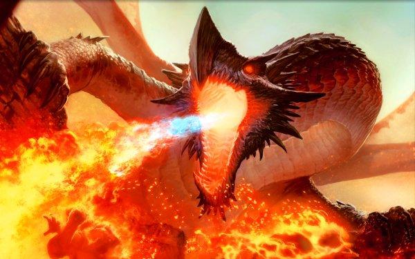 Jeu Magic: The Gathering Ancient Hellkite Dragon Fond d'écran HD | Arrière-Plan