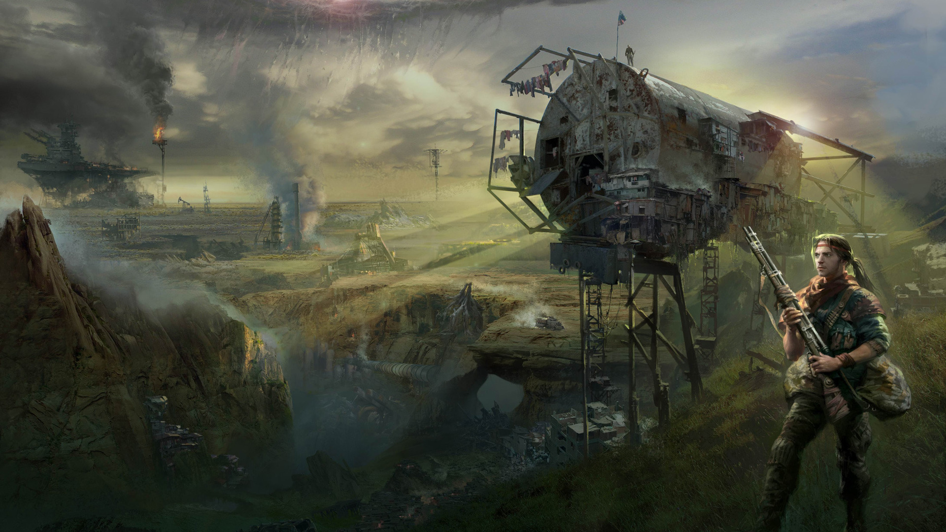 Post Apocalyptic Hd Wallpaper Background Image 1920x1080