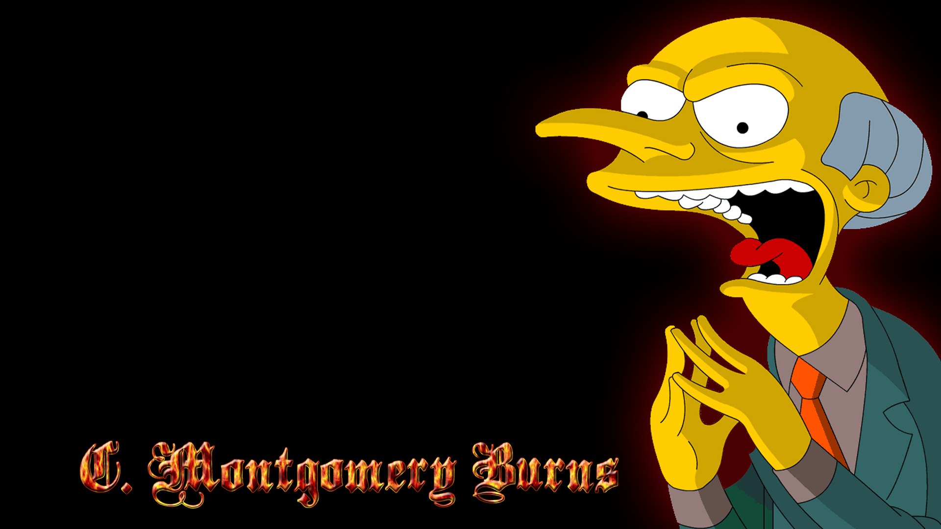 Programma Televisivo - I Simpson  Burns Montgomery Burns Sfondo