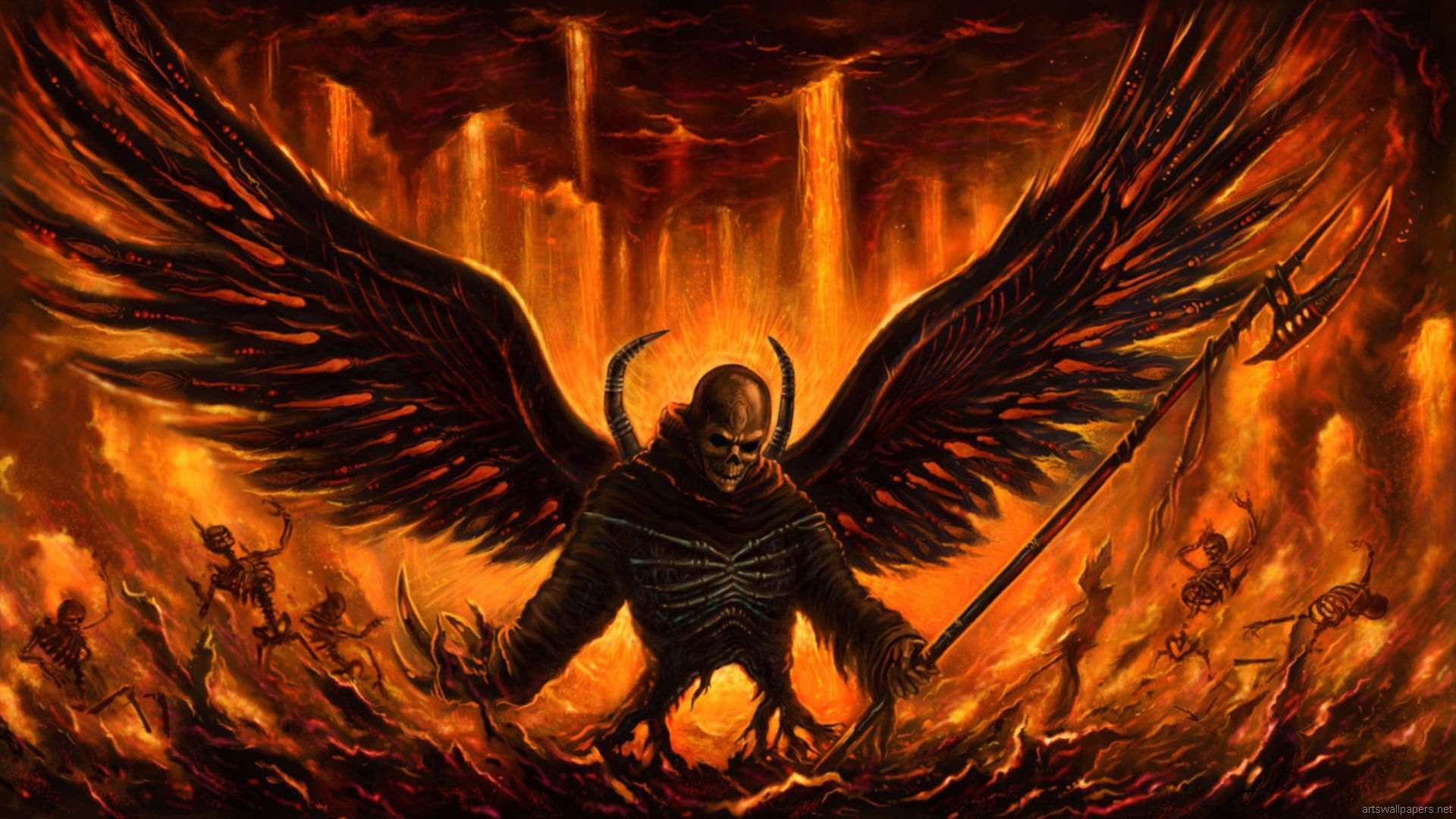 Angel hd wallpaper background image 1920x1080 id - Devil skull wallpaper ...
