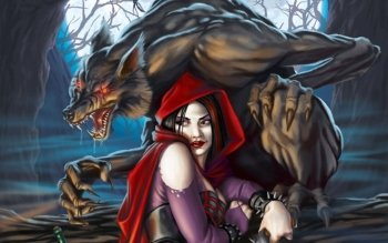 Fantasy - Red Riding Hood Wallpapers and Backgrounds ID : 129920