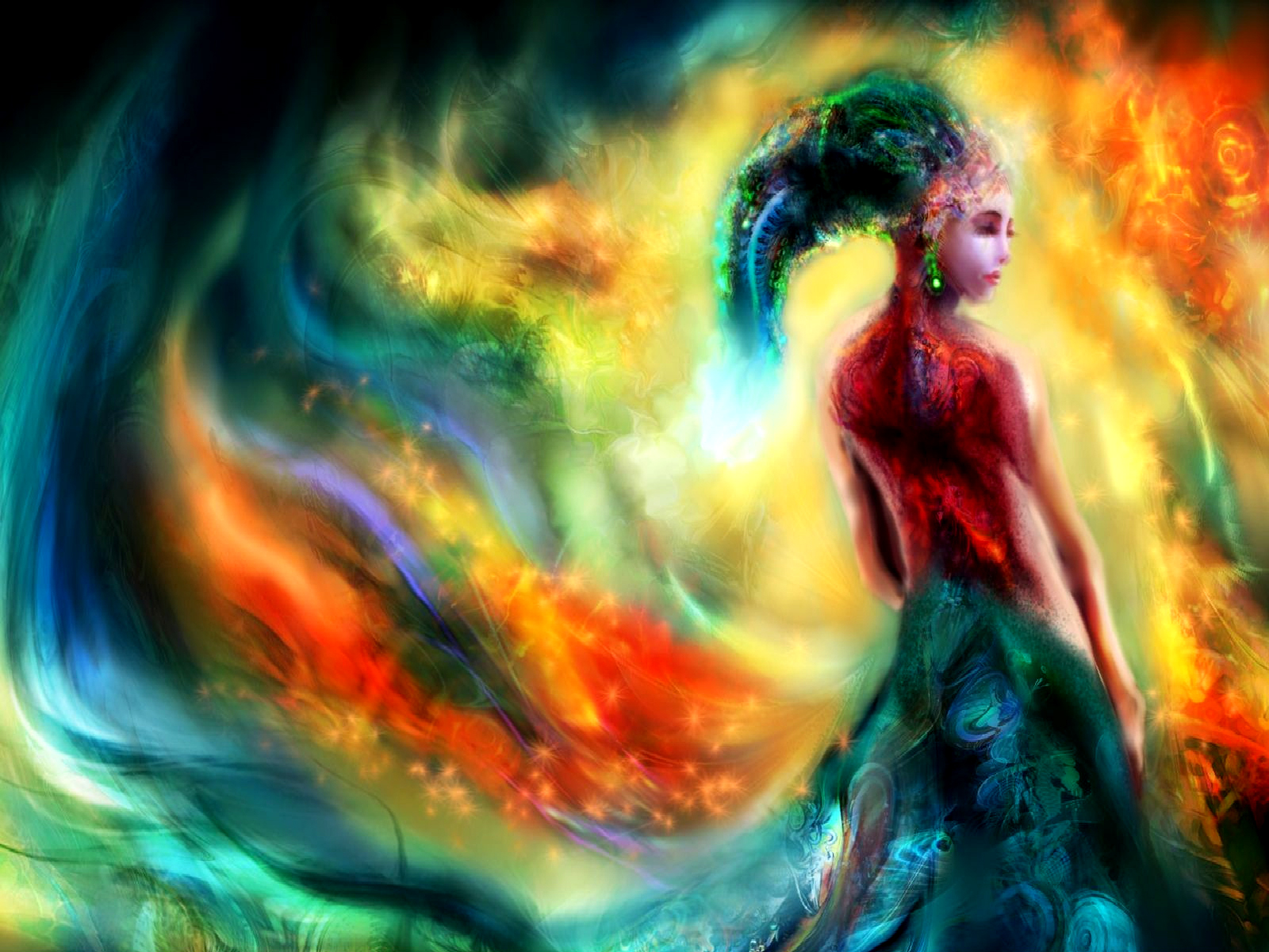 Artistisk - Fantasy  - Color Paradise Bakgrund