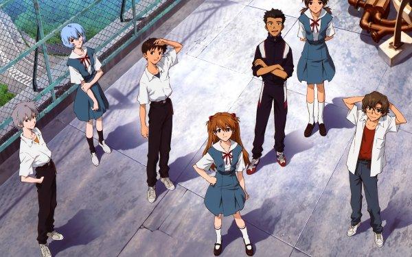 Anime Neon Genesis Evangelion Evangelion Shinji Ikari Kaworu Nagisa Asuka Langley Sohryu Fondo de pantalla HD | Fondo de Escritorio