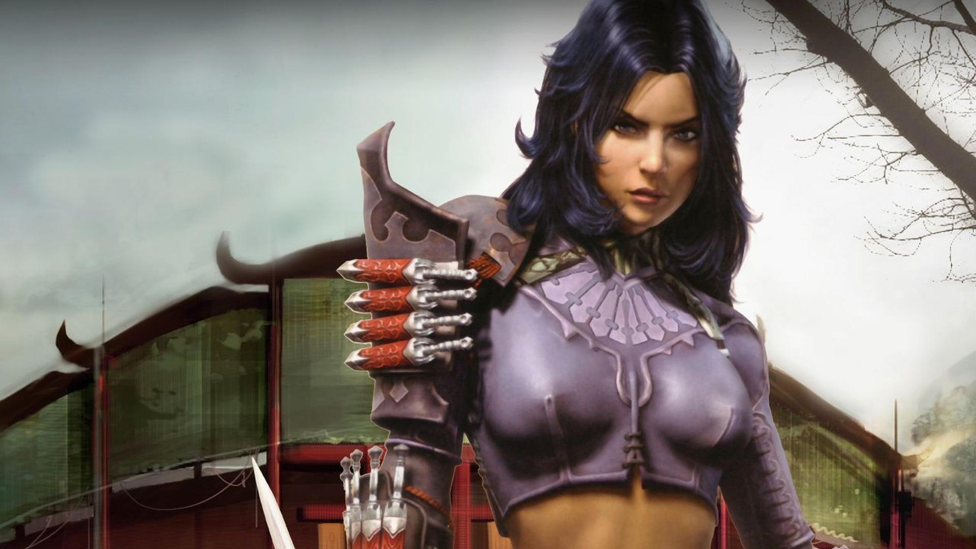 image Warrior girl alpha v2 animation gallery vo edit