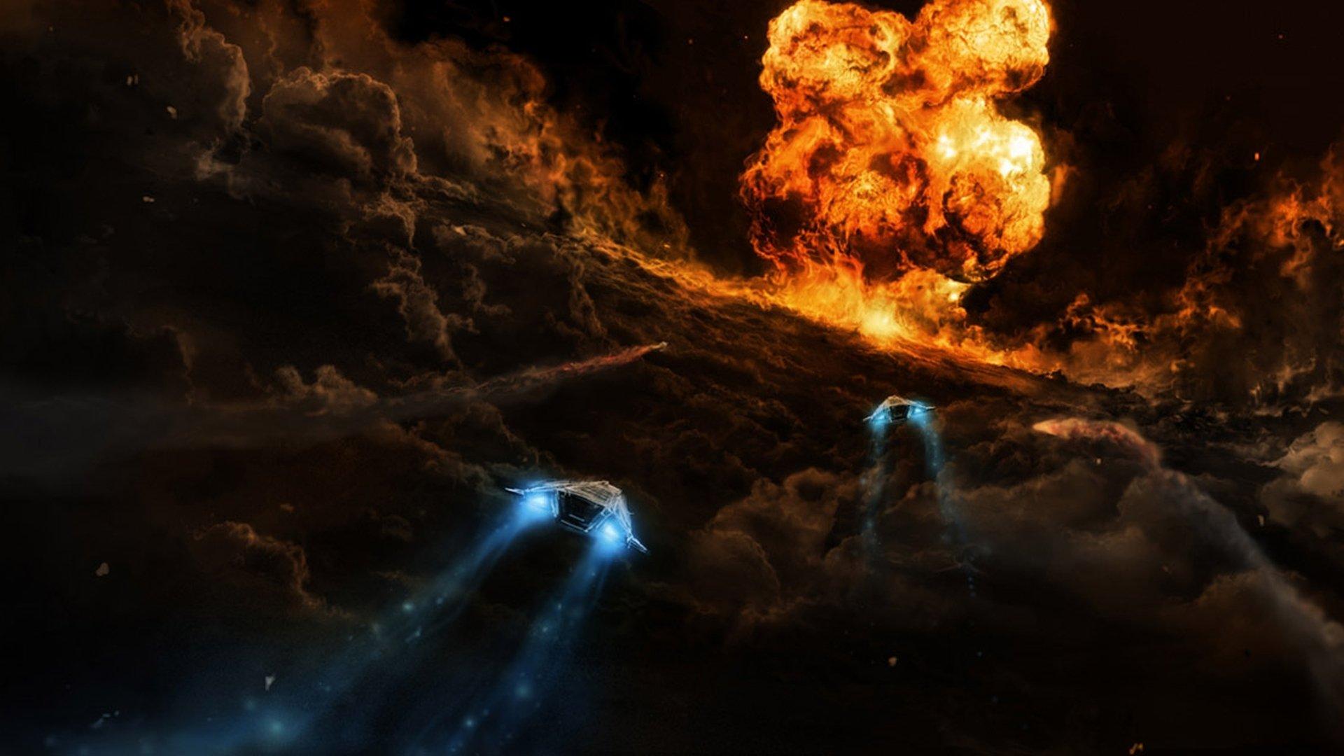 Ciencia Ficción - Nave Espacial  Fondo de Pantalla