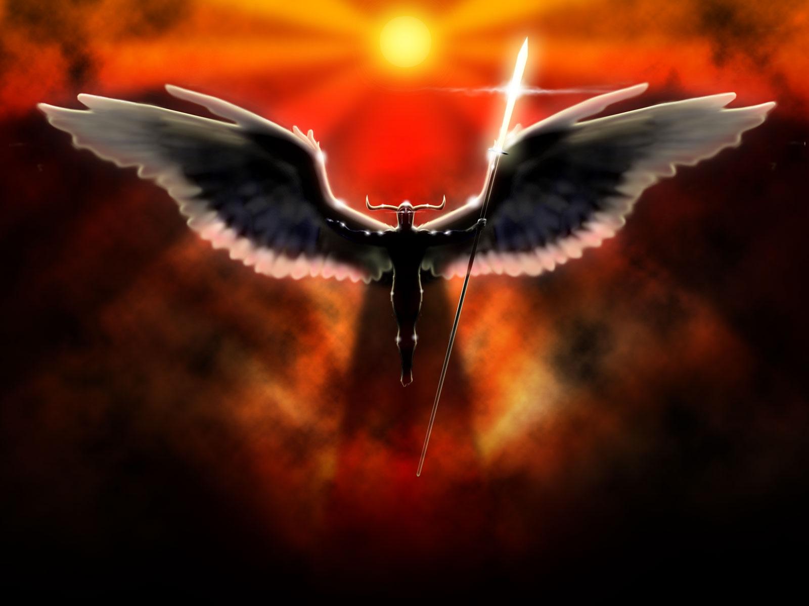 Fantasy - Angel Warrior Angel Fallen Angel Wings Spear Wallpaper