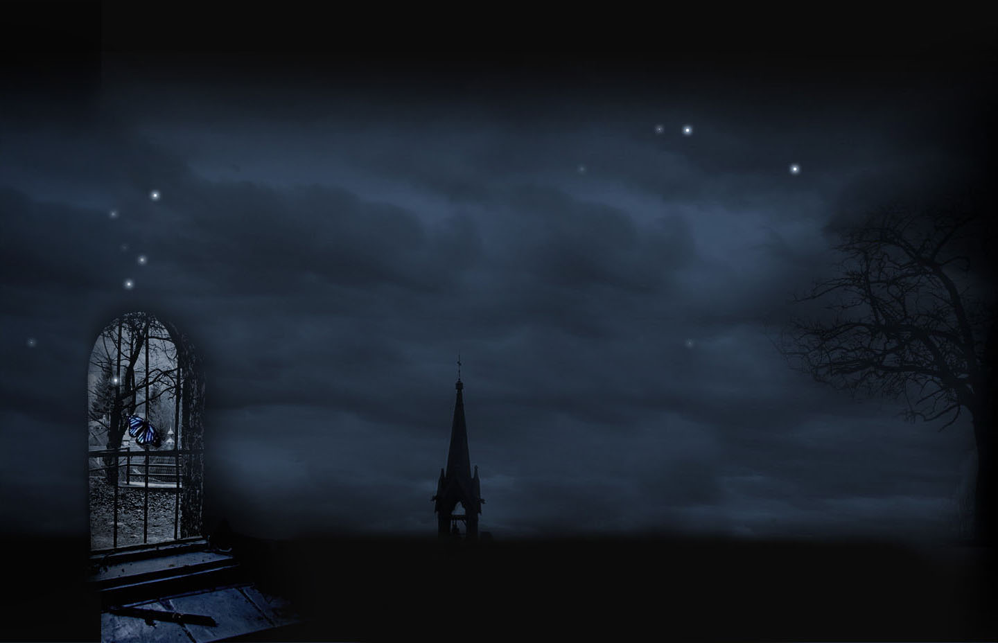 Dark - Building Wallpaper