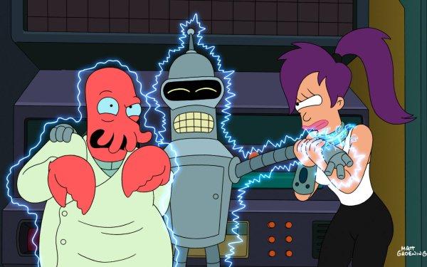 TV Show Futurama Zoidberg Bender Leela HD Wallpaper | Background Image