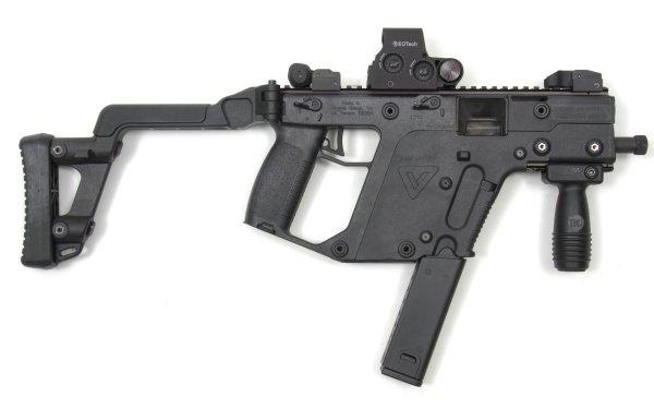 Weapons Submachine Gun Vector HD Wallpaper | Background Image