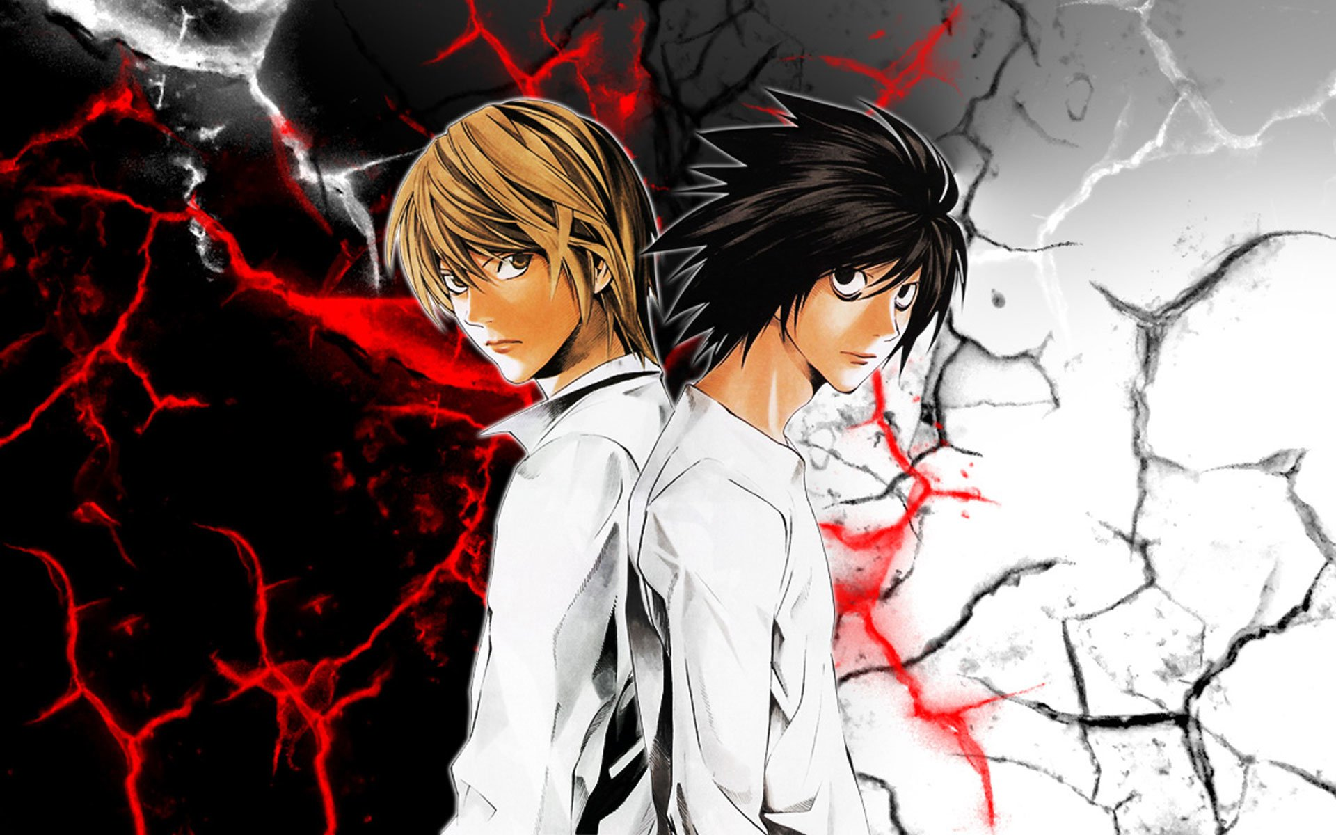 Light Yagami And L Death Note Hd Wallpaper Hintergrund