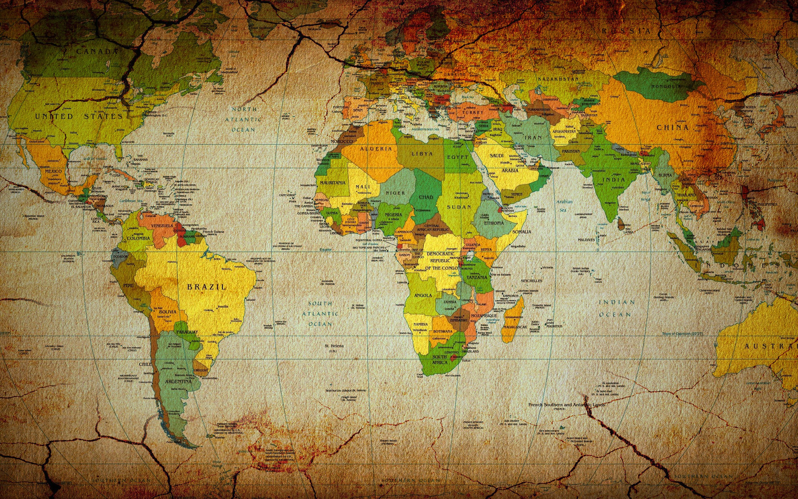 World map full hd wallpaper and background image 2560x1600 id155492 misc world map wallpaper gumiabroncs