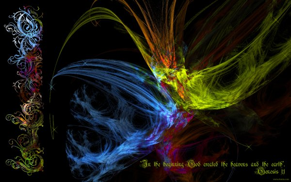 Religious Christian Colors Lines Black HD Wallpaper | Background Image
