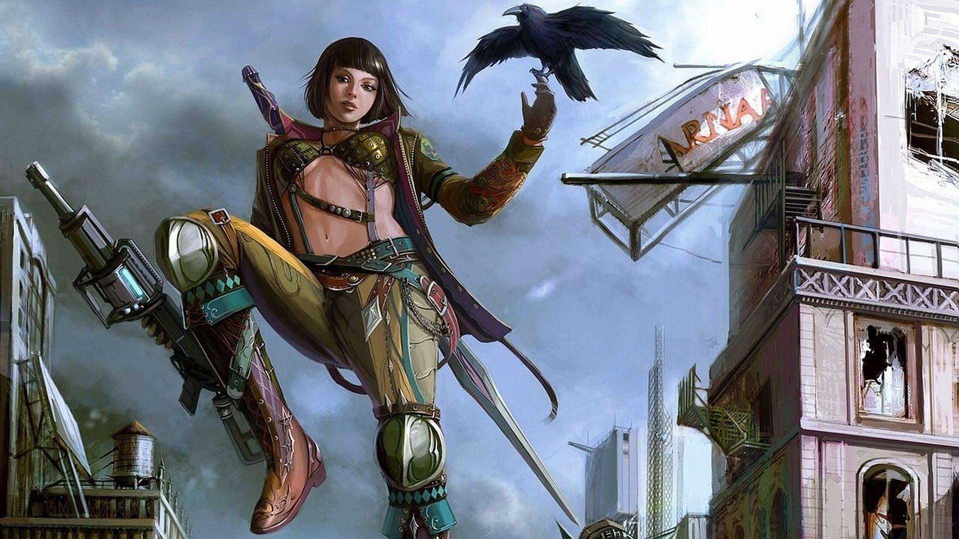 Sci Fi - Women Warrior  Wallpaper