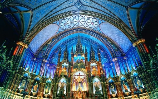 Religious Notre-Dame Basilica (Montreal) Basilicas  HD Wallpaper   Background Image