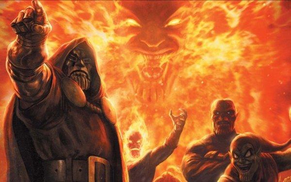 Comics Los Vengadores Doctor Muerte Mephisto Fondo de pantalla HD | Fondo de Escritorio