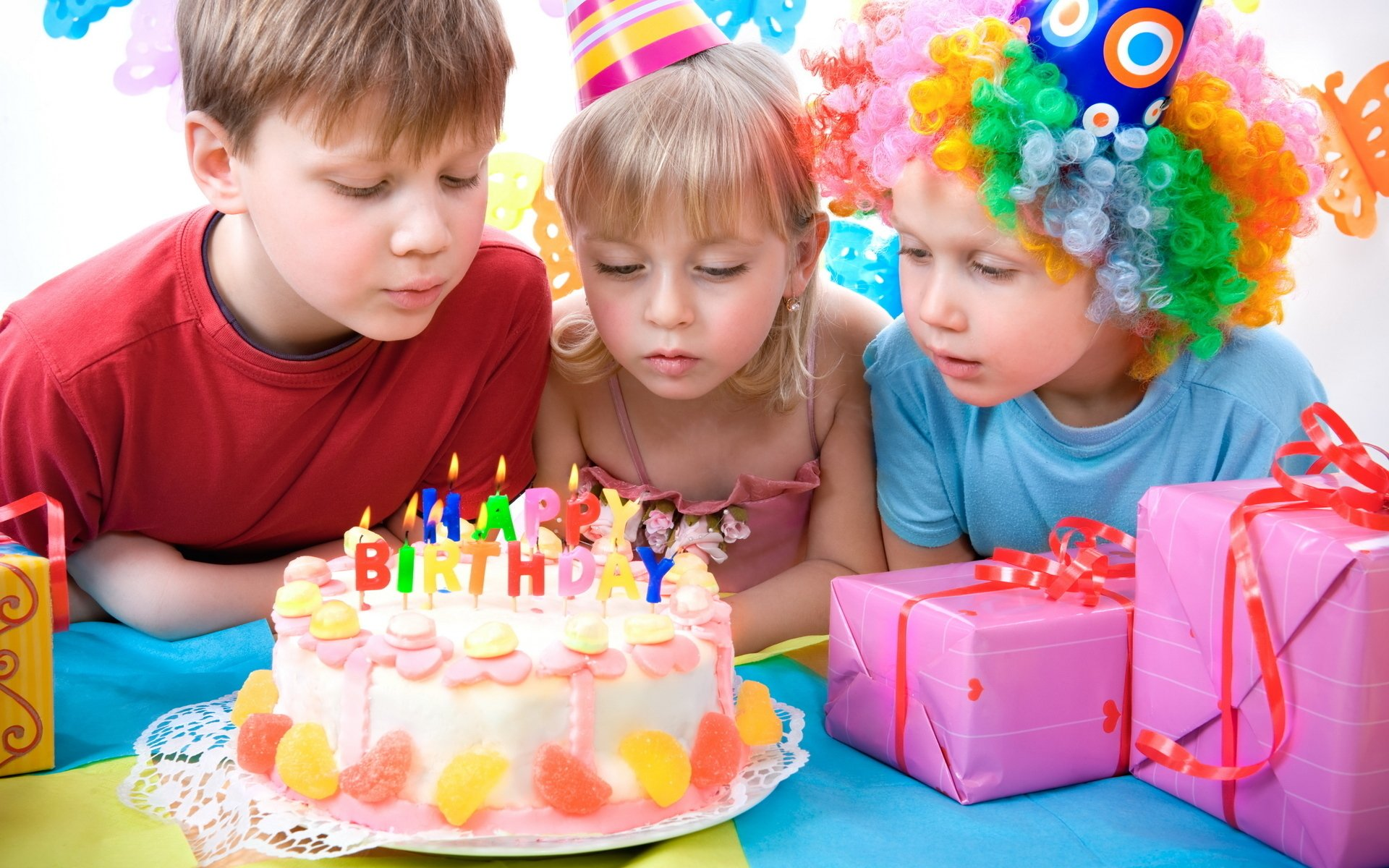 Holiday - Birthday  Child Cake Candle Wallpaper