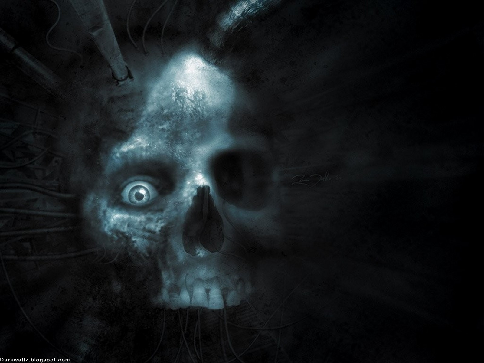 Dark - Gothic  - Dark - Skull - Eyes - Eye - Cyber - Cgi - Death - Dead - Fantasy Wallpaper