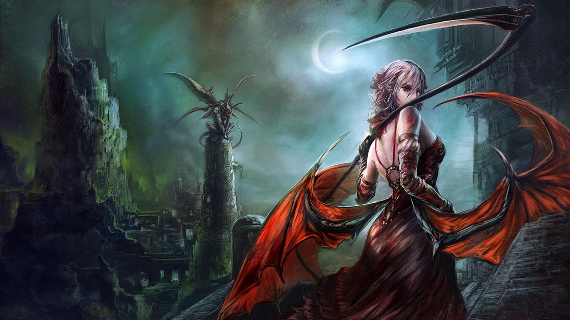 Demon queen full hd wallpaper and background image 1920x1080 id fantasy women warrior wallpaper voltagebd Choice Image