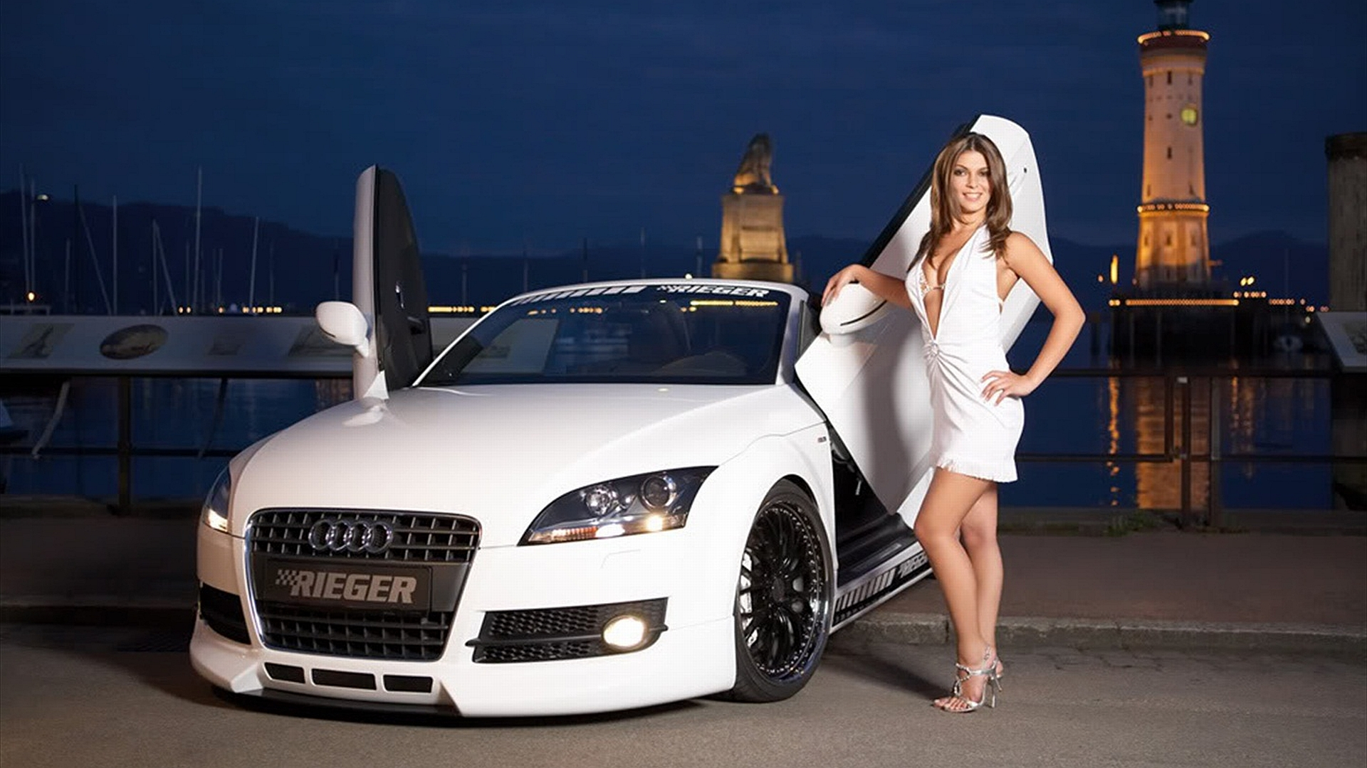 Girls & Cars Full HD Wallpaper and Background Image | 1920x1080 | ID:169140