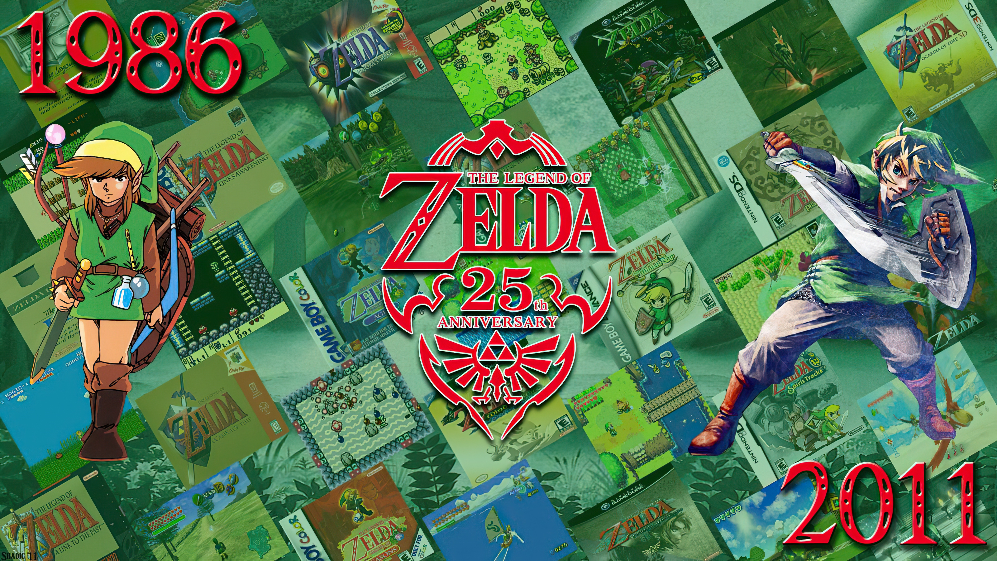 The Legend Of Zelda 25th Anniversary Poster Wallpaper And Background
