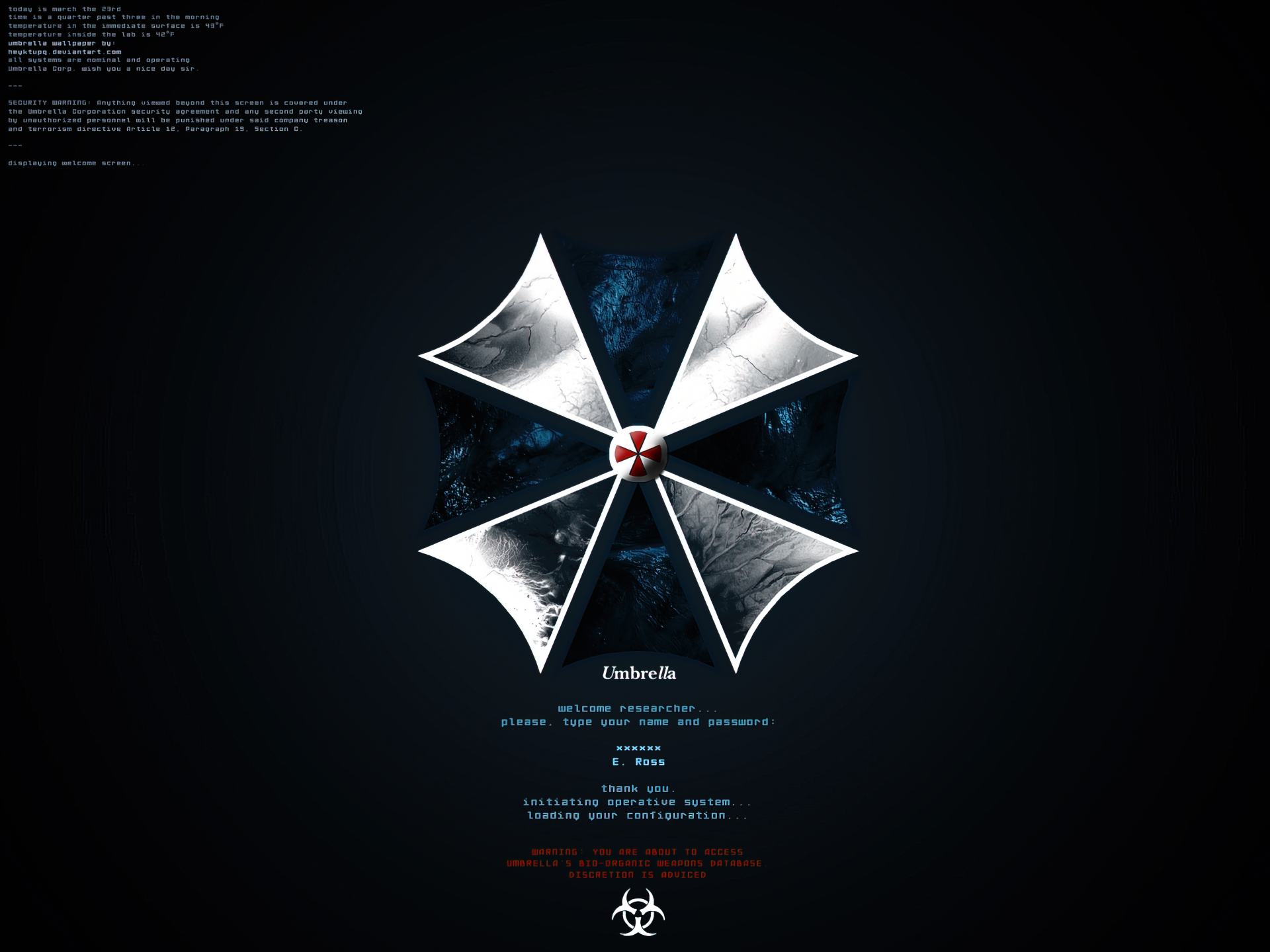 Resident evil wallpaper and background image 1600x1200 - Umbrella corporation wallpaper hd 1366x768 ...