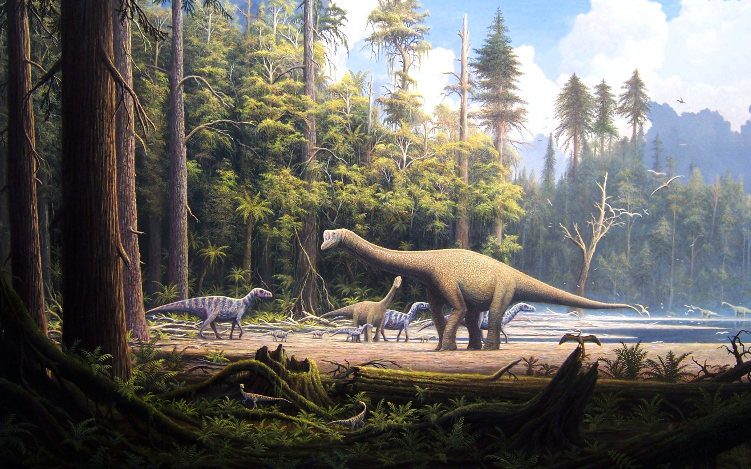 dinosaur landscape background - photo #22
