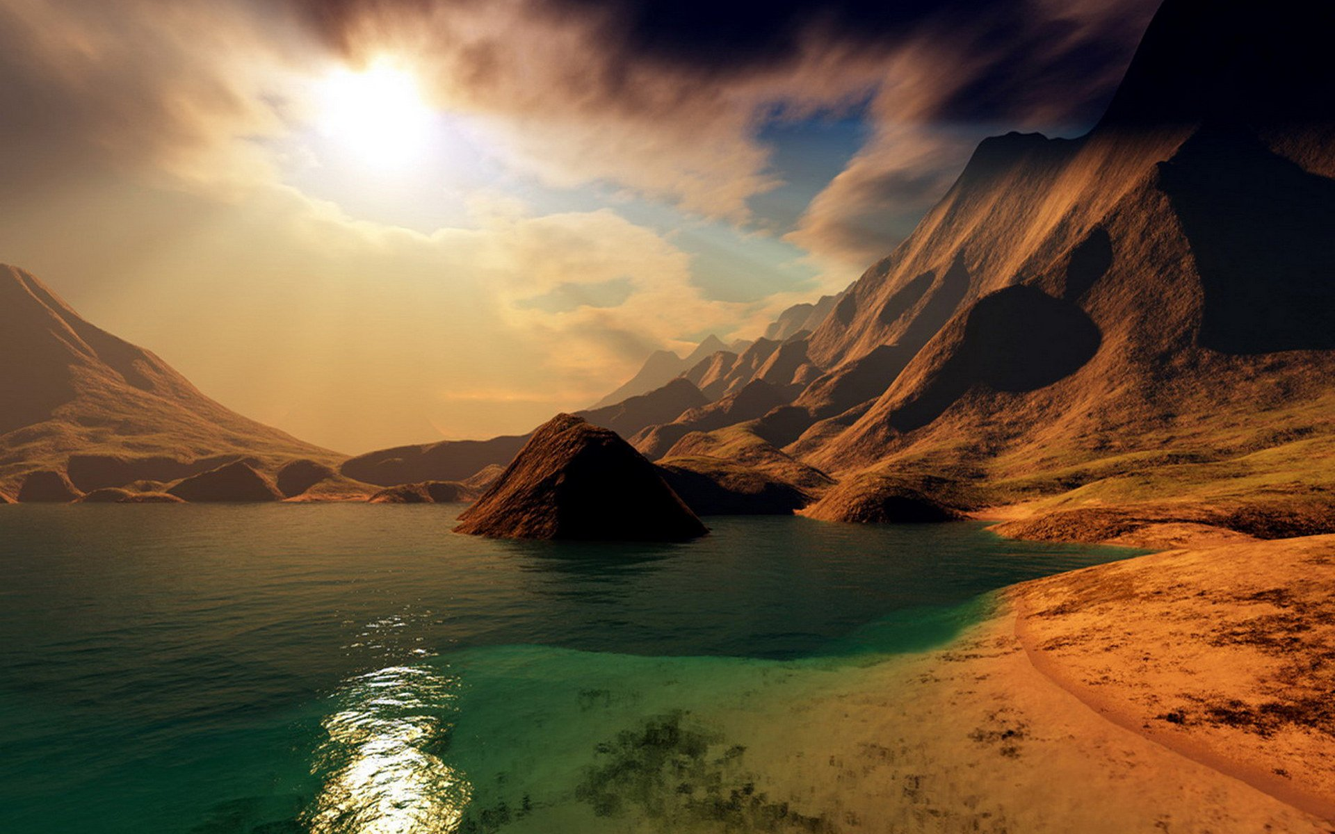 Scenic full hd wallpaper and background image 1920x1200 for Fond ecran pc 3d