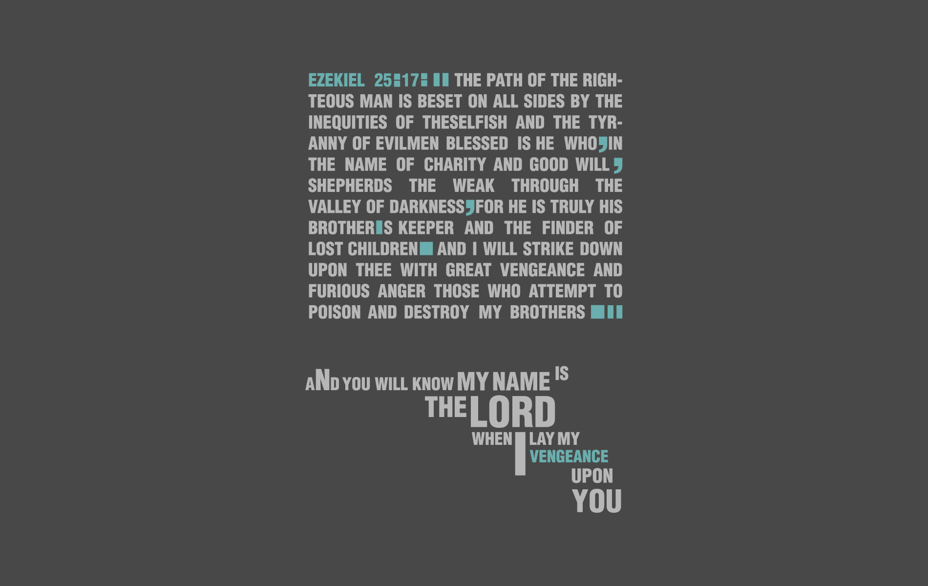 Religious - Scripture  Pulp Fiction Wallpaper