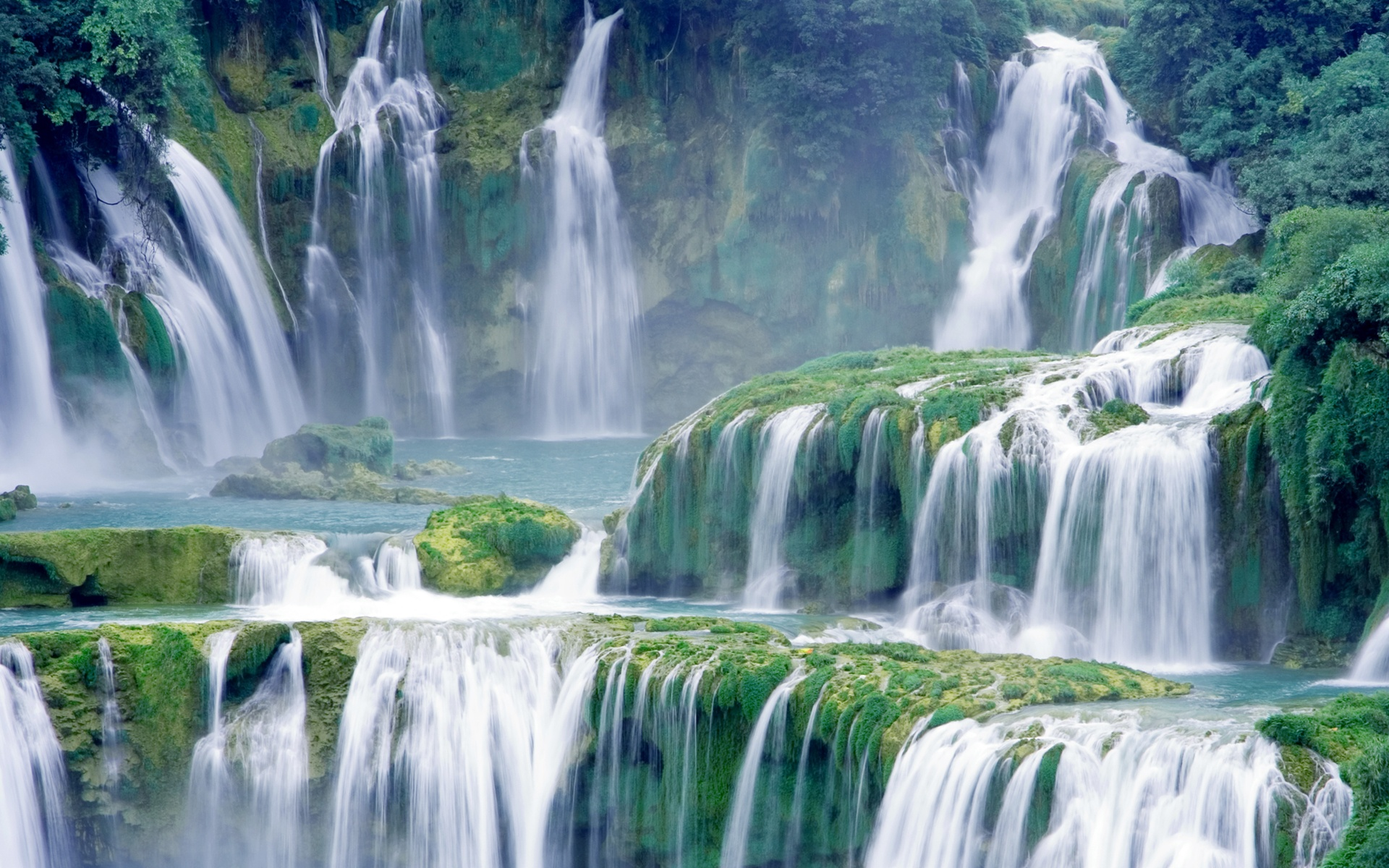 Earth - Waterfall  - Mortal Kombat Wallpaper