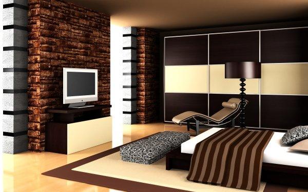 Hecho por el hombre Habitación Brown Fireplace Fondo de pantalla HD | Fondo de Escritorio