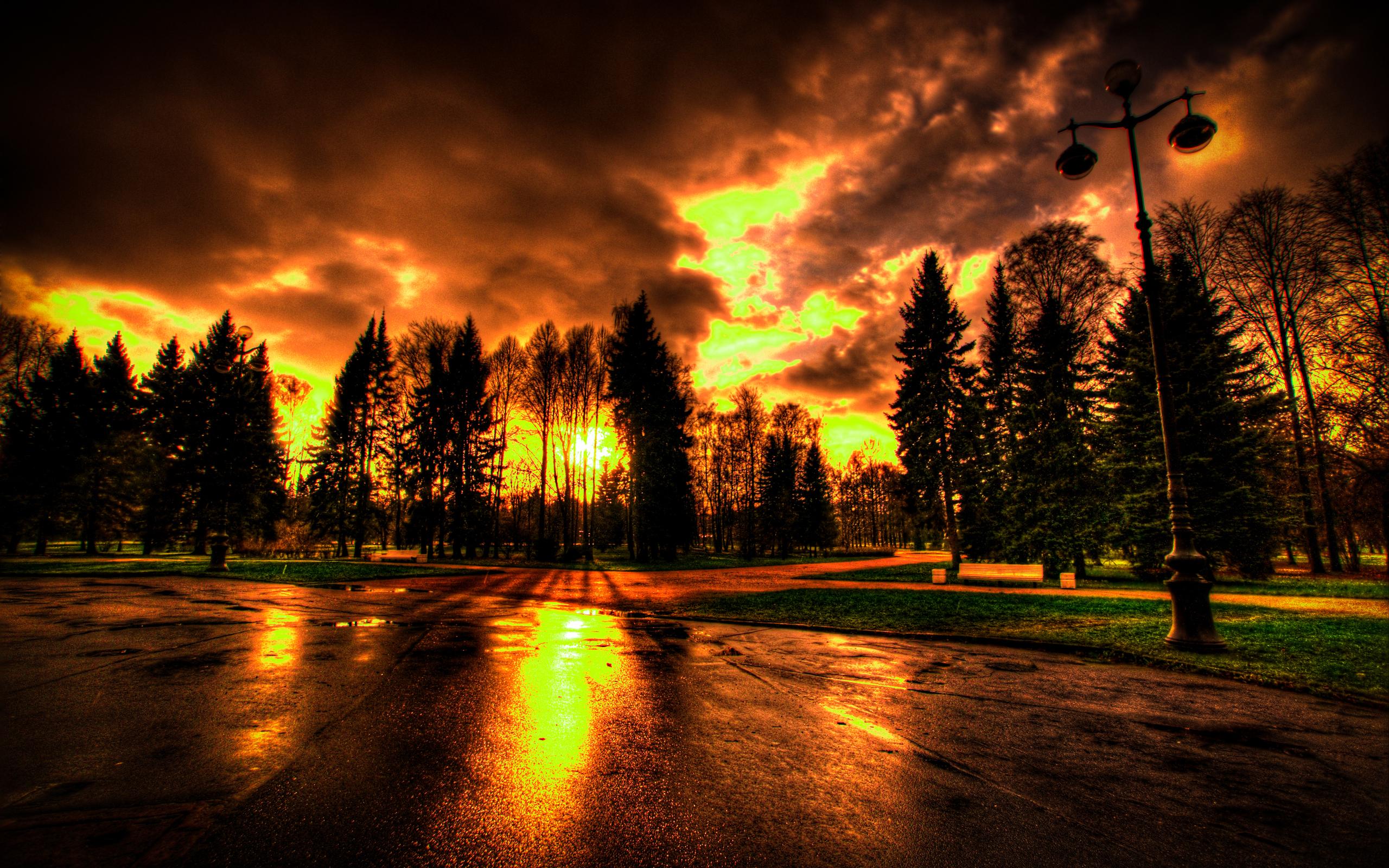 Pôr do Sol Papel de Parede HD Plano de Fundo 2560x1600