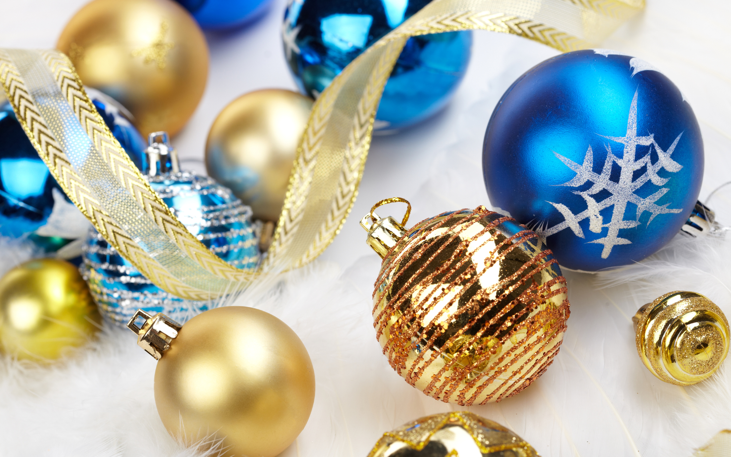 Christmas full hd wallpaper and background image for Blue and gold christmas