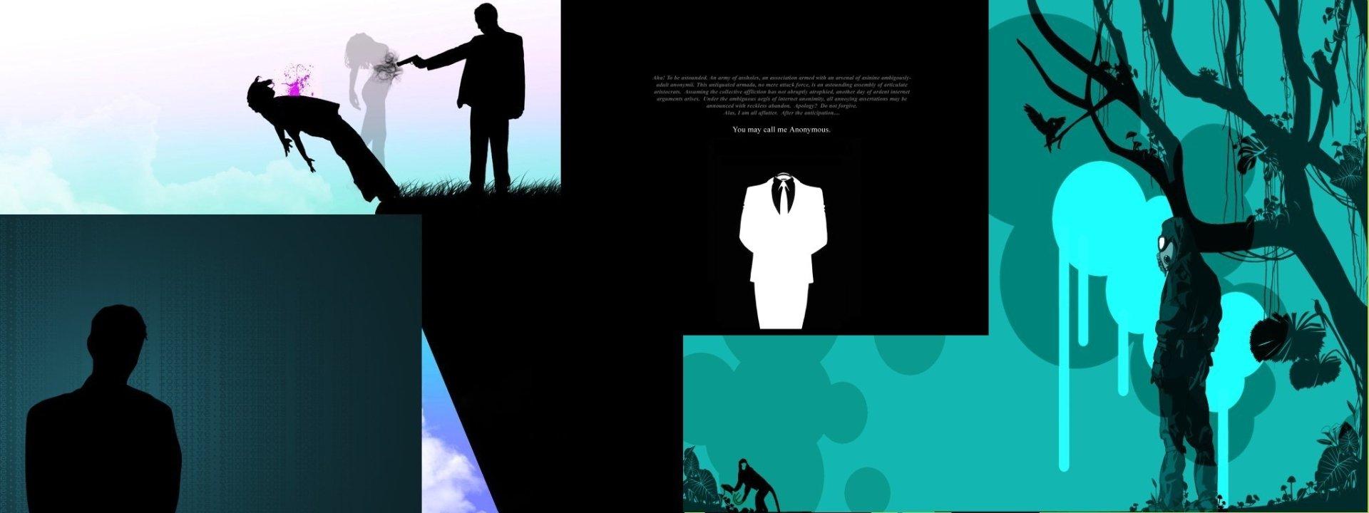 Multi Monitor - Artistic  Anonymous Wallpaper